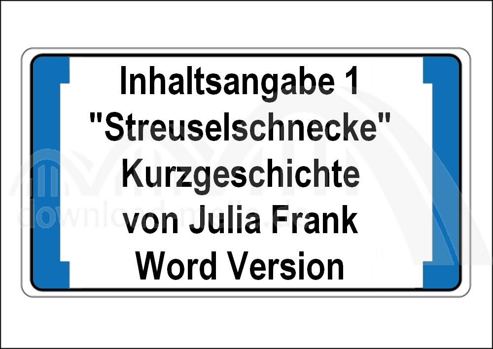 Download Meilede Streuselschnecke Julia Franck Inhaltsangabe 1