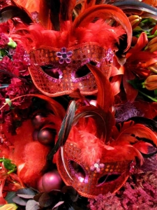 Maskenball in rot